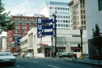 Old Greyhound bus station, Portland, OR. Late 1970s. (Photo: Marion Dean Ross)
