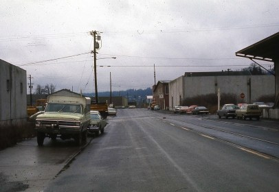 SW Moody at Lane Street. Portland, Or. April, 1977
